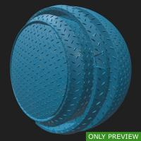 PBR painted metal floor blue preview 0003